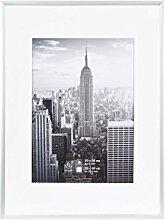 Henzo Manhattan Bilderrahmen, Metall, Silber, 30 x