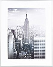 Henzo Manhattan Bilderrahmen, Metall, Silber, 40 x