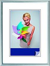 Henzo Napoli Bilderrahmen, Plastik, Silber, 60 x