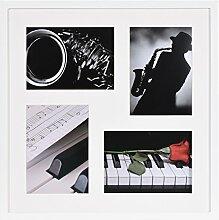 Henzo Piano 40x40 Weiss Bilderrahmen, Holz, 42 x