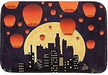HEOEH Fliegende Laterne Cityscape Night Moon