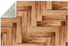 HEOEH Fußmatte aus Holz, 180,9 x 119,4 cm, für
