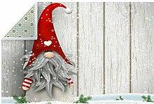 HEOEH Fußmatte Elfen Nordischer Weihnachtsmatte