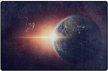 HEOEH Spacemen Galaxy Earth Fußmatten, Teppich,