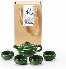HePing Wu Binglie Tee-Set (Color : Malachite green)