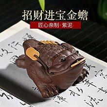 HePing Wu Erz lila Ton-Skulptur Tee Haustier