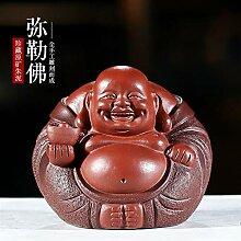 HePing Wu Erz lila Ton-Skulptur Tee Tee Haustier