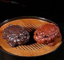 HePing Wu Glück lila Ton-Skulptur Tee Haustier