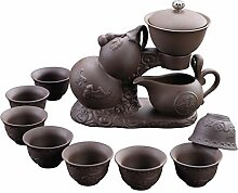 HePing Wu Lila halbautomatisches Haus Tee-Set