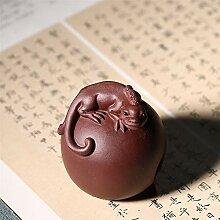 HePing Wu lila Ton-Skulptur homegrown Tee pet