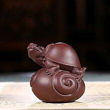 HePing Wu Lila Ton-Skulptur Tee Haustier Ornament