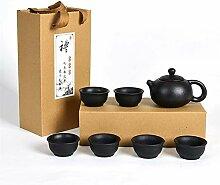 HePing Wu Schwarze Keramik Tee-Geschenk-Box