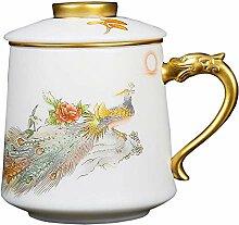 HePing Wu Suet Jade weißen Porzellan Büroschale