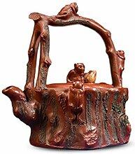 HePing Wu Teekanne Fünf Affen (Color : Brown)