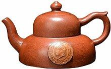 HePing Wu Teekanne kappen Topf (Color : Brown)