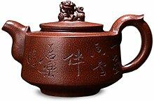 HePing Wu Tiens Topf Teekanne (Color : Brown)