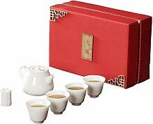 HePing Wu Weiße Porzellan-Keramik-Teekanne