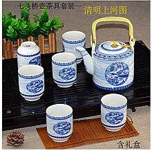 HePing Wu Weißes Porzellan Tee-Set Kung Fu