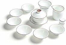 HePing Wu Weißes Tee-Set Zen aliphatisches