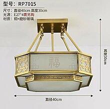Heqor Chinesische Kupfer deckenleuchte Kupfer
