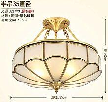 Heqor Deckenleuchte Kupfer Wohnzimmer Lampe