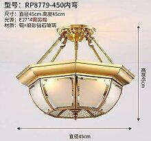 Heqor Deckenleuchte voll Kupfer Schlafzimmer Lampe