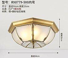 Heqor Deckenleuchte vollkupfer Schlafzimmer Lampe