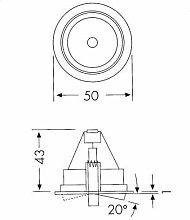 Hera Einbauring für LED oder Halogen GU5.3