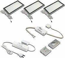 Hera LED-Unterbauleuchten-Set, Metall,