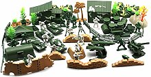Heraihe 90PCS Plastikmodell Spielset Toy Soldiers