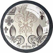 Heraldisch mit Fleur De Lis und Kronen Tiara Iris