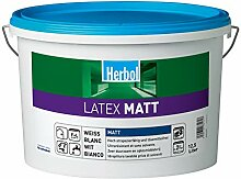 Herbol Latexfarbe Latex Matt 2,5L Weiß