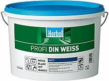 Herbol Profi DIN weiß Wandfarbe Innenfarbe matt,