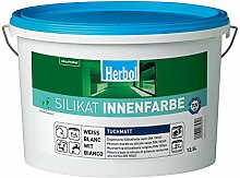 Herbol Silikat Wandfarbe Innenfarbe weiß, 15 Liter