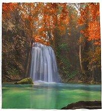Herbst Ahorn Wasserfall Duschvorhang mit