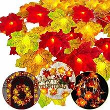 Herbst-Ahornblatt-Weihnachtsdekoration,