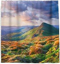 Herbst Berge Duschvorhang mit