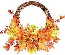 Herbst Haustür Kranz, künstliche Orange Ahorn