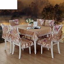 Herbst und winter,europäisch,gepolsterte tischtuch,tee tischdecke,tische und stühle,stoff-tischdecke-D 130x180cm(51x71inch)