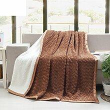 Herbst/Winter Dicke warme Decke/ weiche und bequeme Decke/ Muskel dicke Decke/ Schlafsaal doppelte Decke-C 180x200cm(71x79inch)