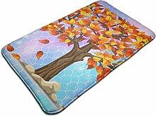 Herbstbaum mit fallenden Blättern Kunst