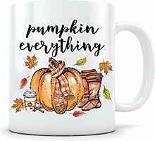 Herbstdekor Kaffeetasse Kürbis Alles Herbst-Tasse