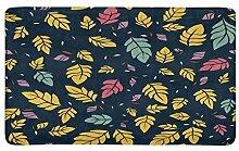 Herbstliche Blätter Fußmatte Teppich Fußmatten