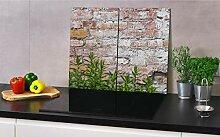 Herdabdeckplatte aus Glas für Küche 2X(30 cm x