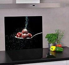 Herdabdeckplatte aus Glas für Küche (60 cm x