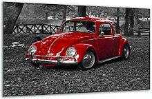 Herdabdeckplatte Ceranfeld 1 Teilig 80x52 Auto Rot