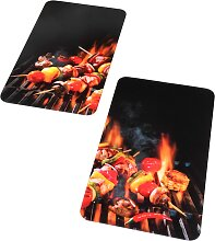 Herdabdeckplatten Barbecue, rot