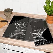 Herdabdeckplatten - Herdabdeckplatte Wassertropfen