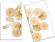Herdabdeckplatten, Schneidebrett aus Glas, Bananen