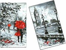 Herdabdeckplatten, Schneidebrett aus Glas, Big Ben